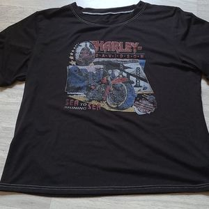 SHEIN Harley Davidson Tshirt